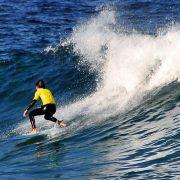 Man surfing Samurai blue funboard - Shogun Surfing Surf Shop Sydney